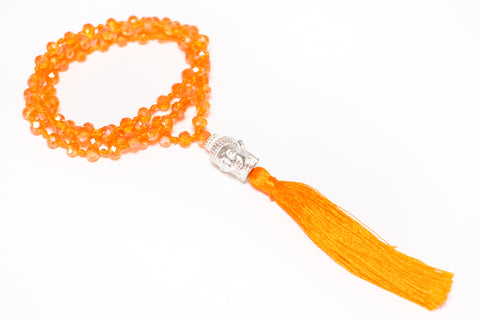 Bali Treasures: Faceted Glass Bead Buddha Necklaces