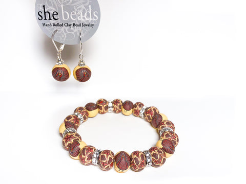 Thanksgiving Small Bead Crystal Bracelet
