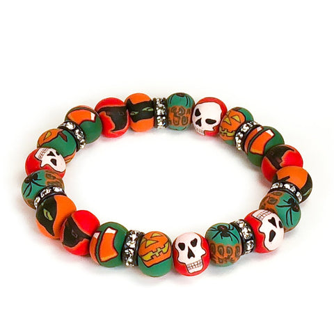 Halloween Small Bead Crystal Bracelet