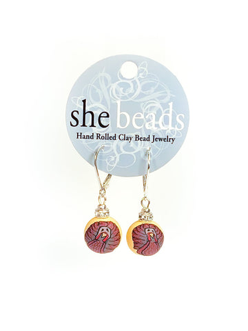 Thanksgiving Small Bead Swarovski Crystal Earrings