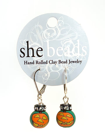 Halloween Small Bead Swarovski Crystal Earrings