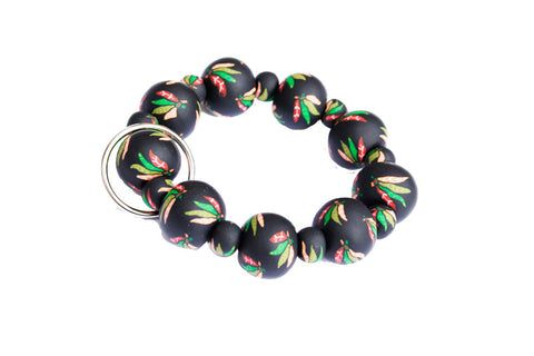 Blackhawks All Clay Wrist Key Chain