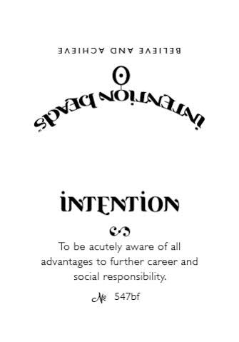 Intention Bracelet: To Be Acutely Aware of All  Advantages to Further Career and Social Responsibility
