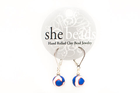 Cubs Small Bead All Clay Earrings