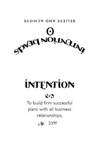 Intention Bracelet: To Build Firm Successful Plans with All Business Relationships