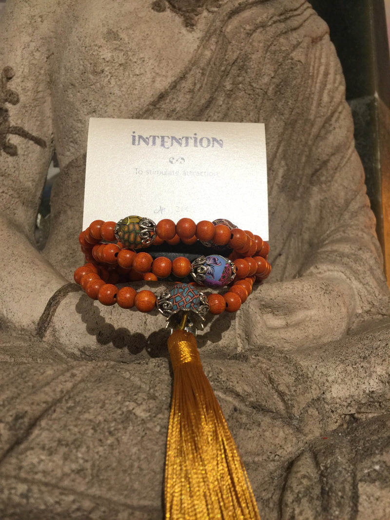 Mala Prayer Beads: To stimulate attraction - Intention Beads | Astrology | Talisman