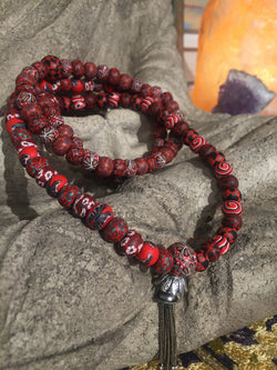 "New Moon Mala: To show courage and slay ""the beast"" once and for all. - Intention Beads 