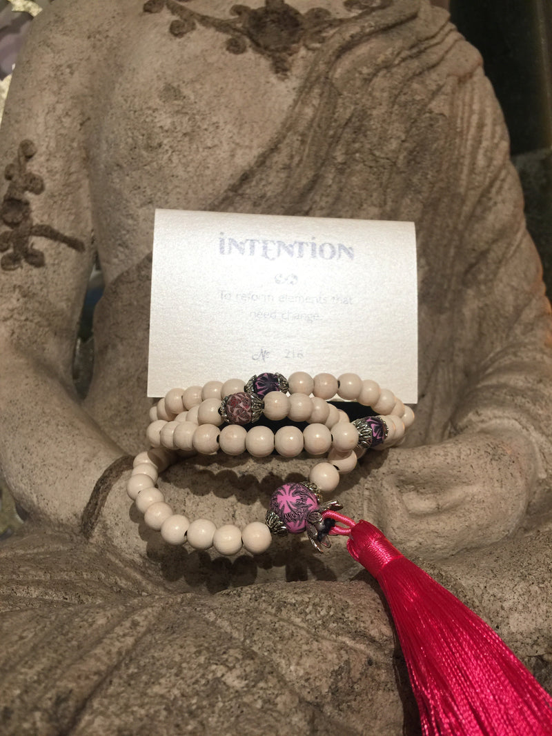 Mala Prayer Beads: To reform elements that need change - Intention Beads | Astrology | Talisman