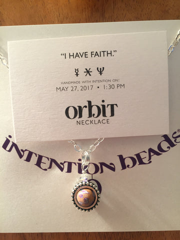 "Orbit Necklace: ""I have faith."""