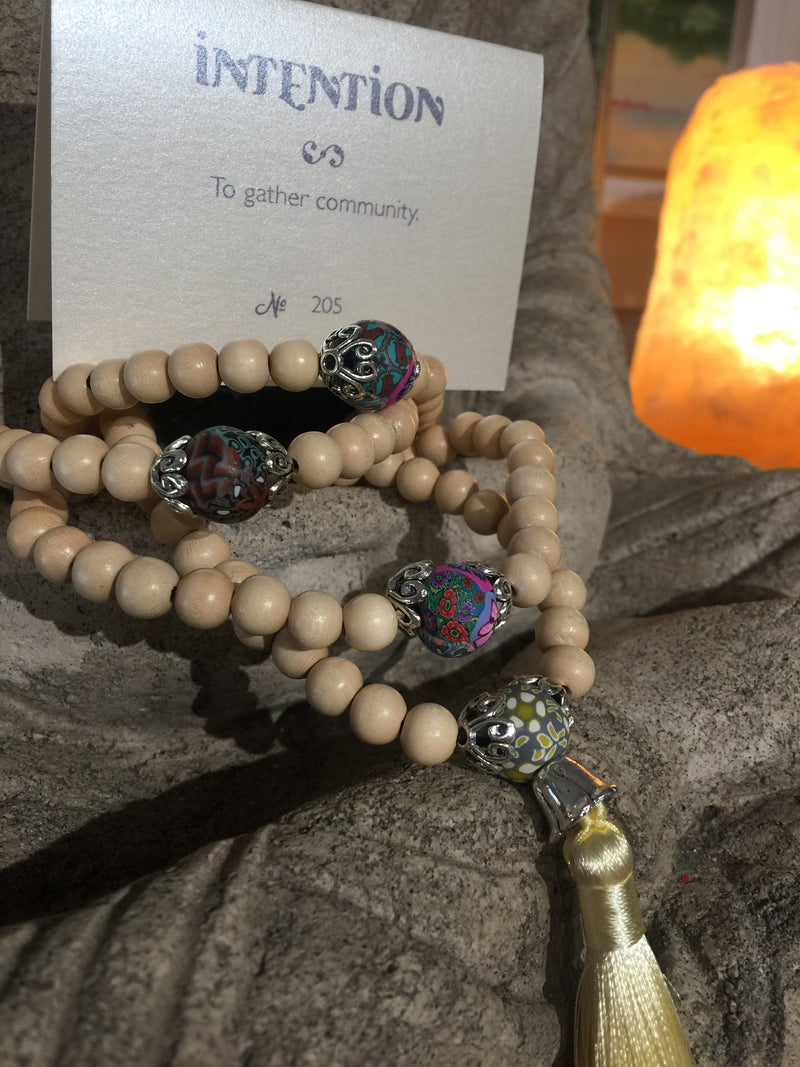 Mala Prayer Beads: To gather community - Intention Beads | Astrology | Talisman