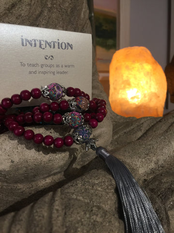 Mala Prayer Beads: To teach groups as a warm and inspiring leader