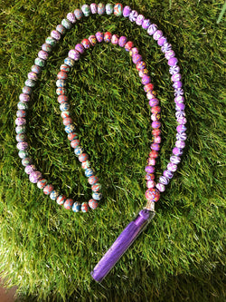 New Moon Mala: To create and beautify my world with joy, love and abundance. - Intention Beads | Astrology | Talisman