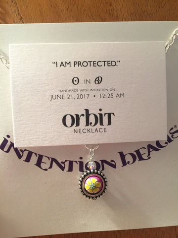 Orbit Necklace: 'I am protected""