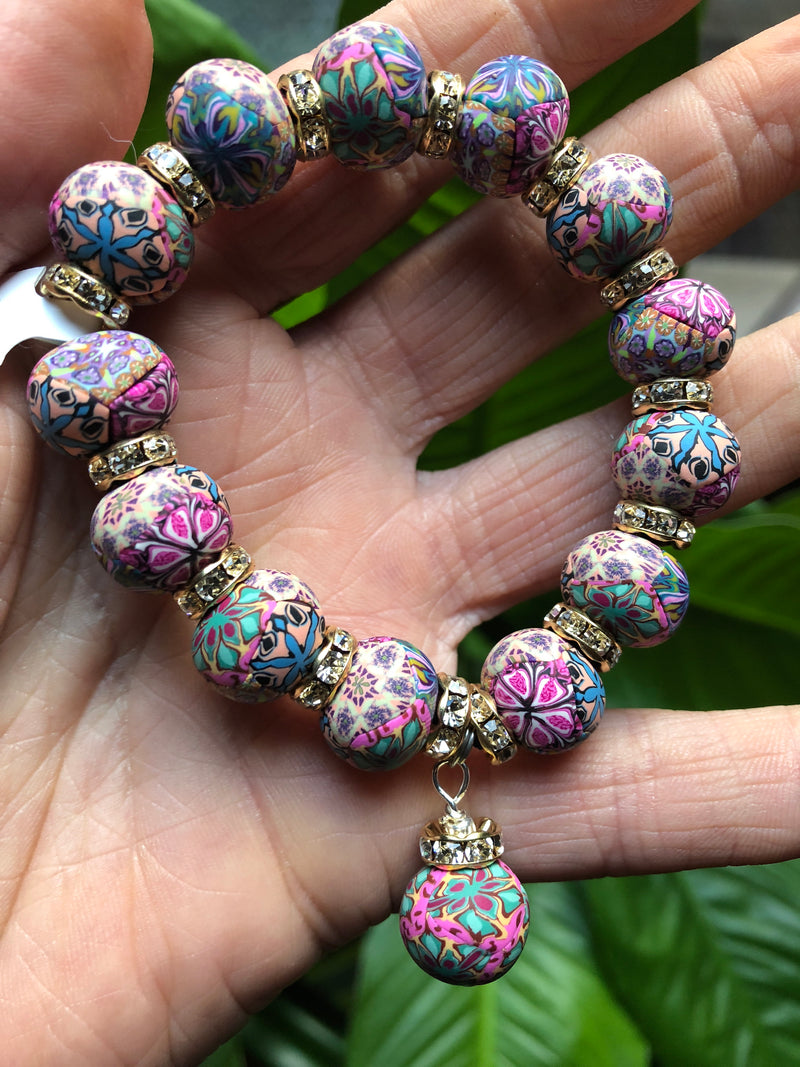 Intention Bracelet: To connect ideas for increased vitality. - Intention Beads | Astrology | Talisman