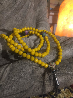 Mala Prayer Beads: For optimism and maintaining a positive outlook. - Intention Beads | Astrology | Talisman