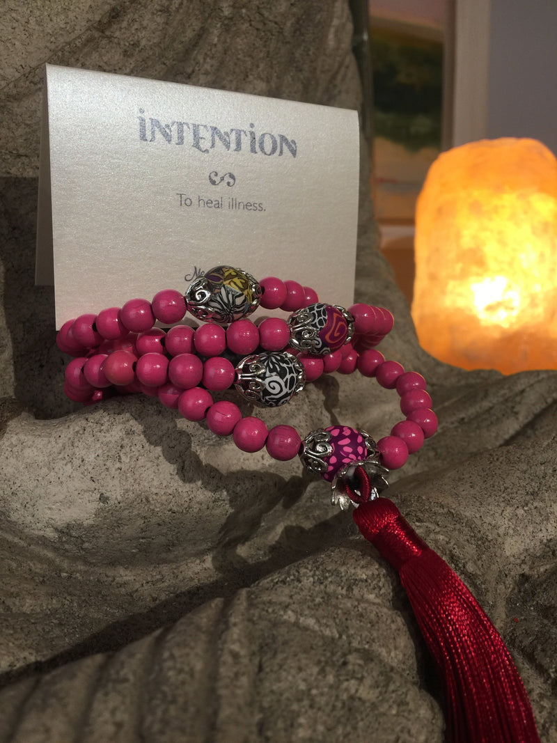 Mala Prayer Beads: To heal illness - Intention Beads | Astrology | Talisman