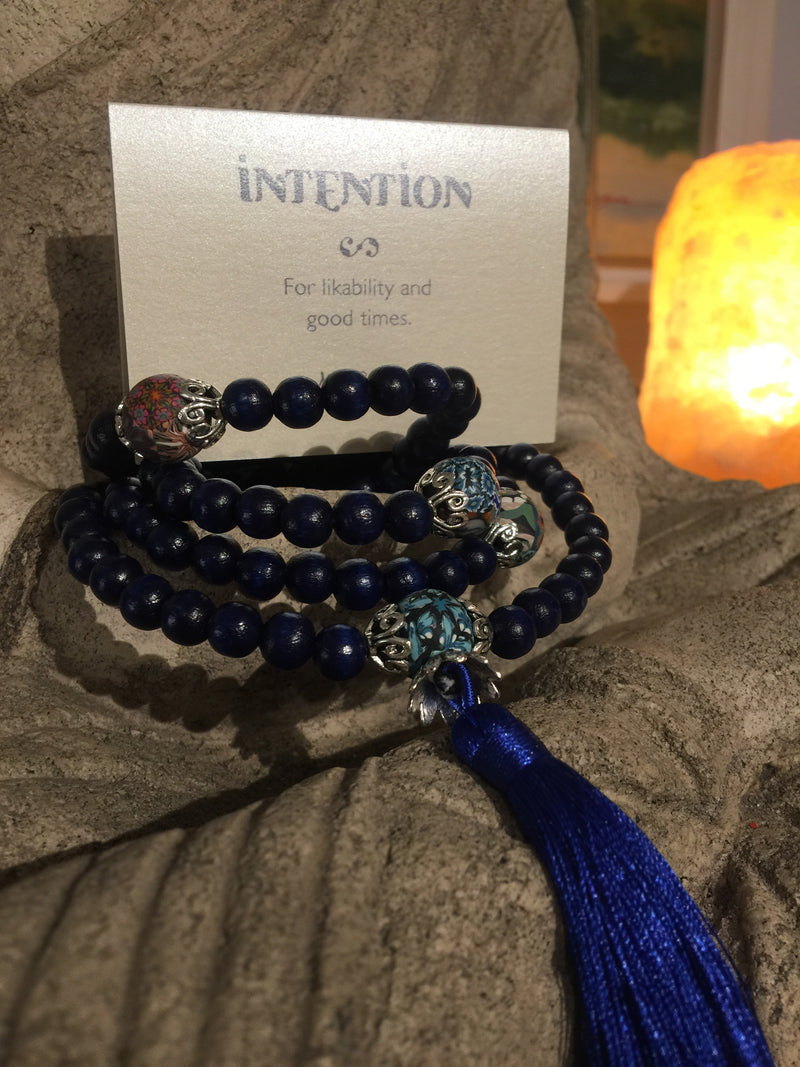 Mala Prayer Beads: For likability and good times - Intention Beads | Astrology | Talisman