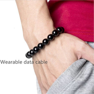Wearable USB Charging Bracelet Beads (iOS | Android)