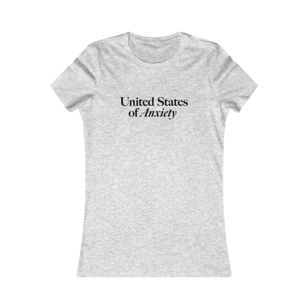 Women's United States of Anxiety Cotton Tee
