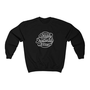 Socially Distant Emotionally Distant Crewneck Sweatshirt