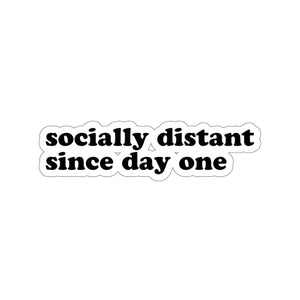 Socially Distant Sticker