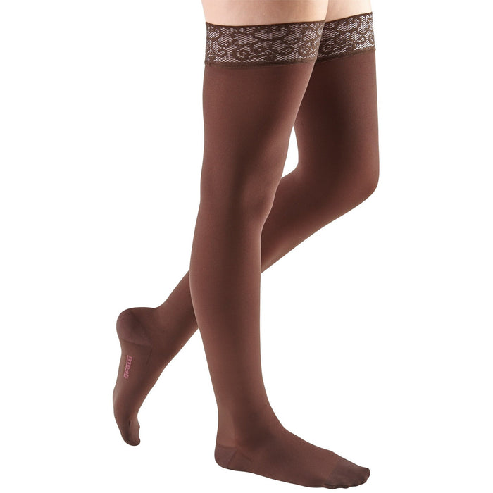 mediven comfort, 20-30 mmHg, Thigh High w/ Lace Top-Band, Closed Toe