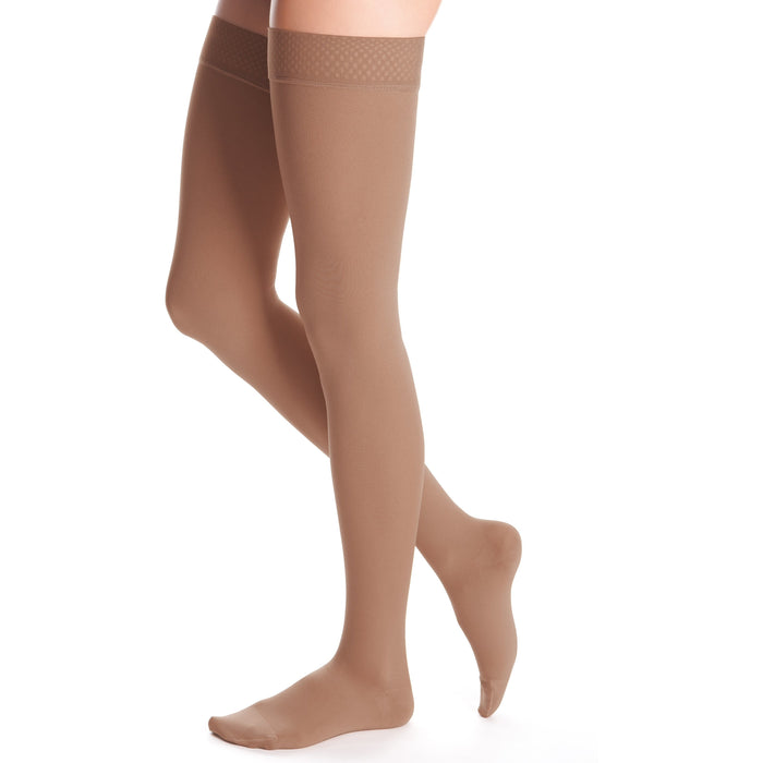 duomed advantage 20-30 mmHg thigh beaded topband closed toe standard