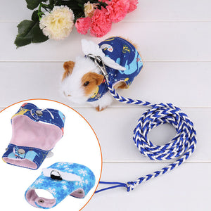 1pc 8cm/3.1inch Pet Lead Leash Small Pet Harness Forret Hamster Vest Clothes Lead for Rabbit Guinea Pig Squirrel Blue