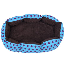 Load image into Gallery viewer, Practical Boutique Removable cushion House Bed for Pets Dog Cat S Blue, Black dots