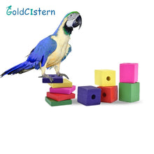 Load image into Gallery viewer, 5pcs/bag Wood Square Toy Accesories Pet Bird Parrot Toy Random Color