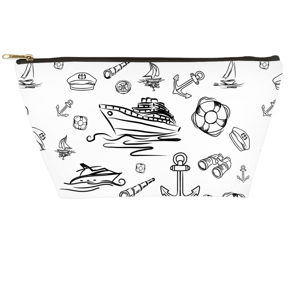 Accessory Pouch - White Sailing World Collection - SVlovers