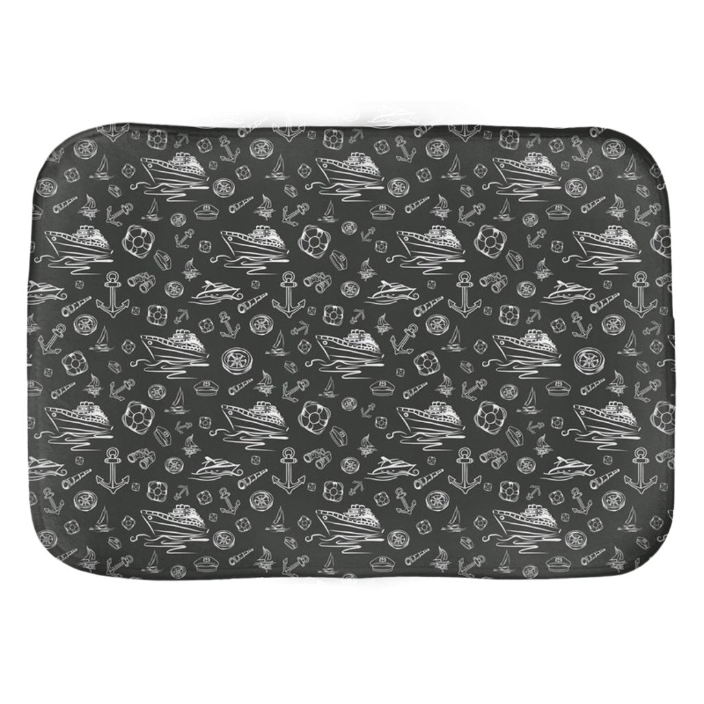 Bath Mat - Black Sailing World Collection - SVlovers