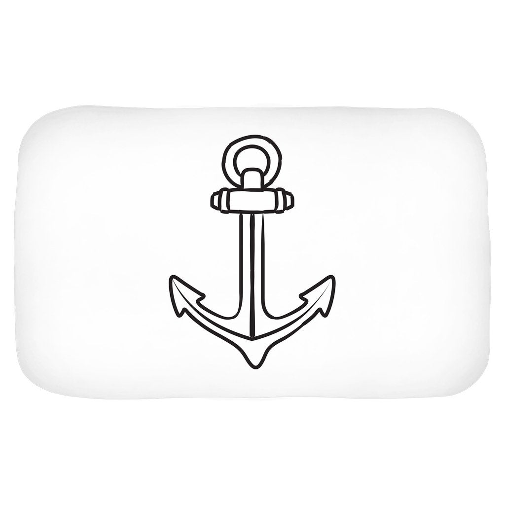Bath Mat - My Anchor Collection (White) - SVlovers