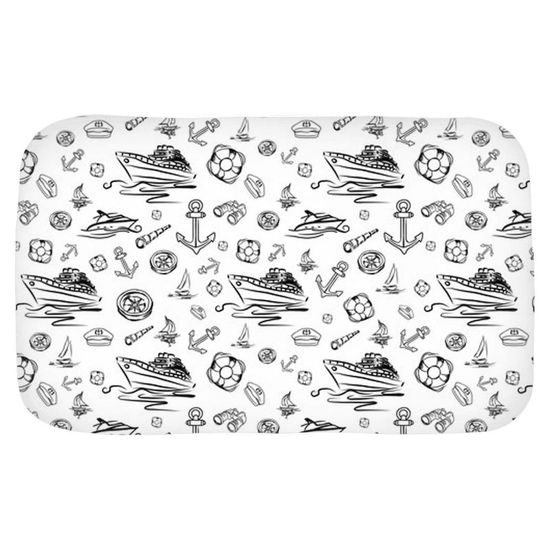 Bath Mat - White Sailing World Collection - SVlovers