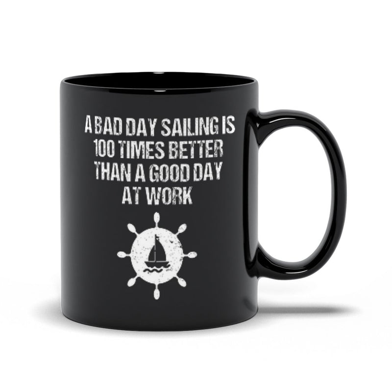 Black Mug 11oz - A good day sailing Collection - SVlovers