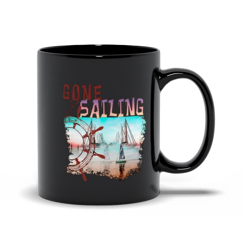 Black Mug - Gone Sailing Collection - SVlovers