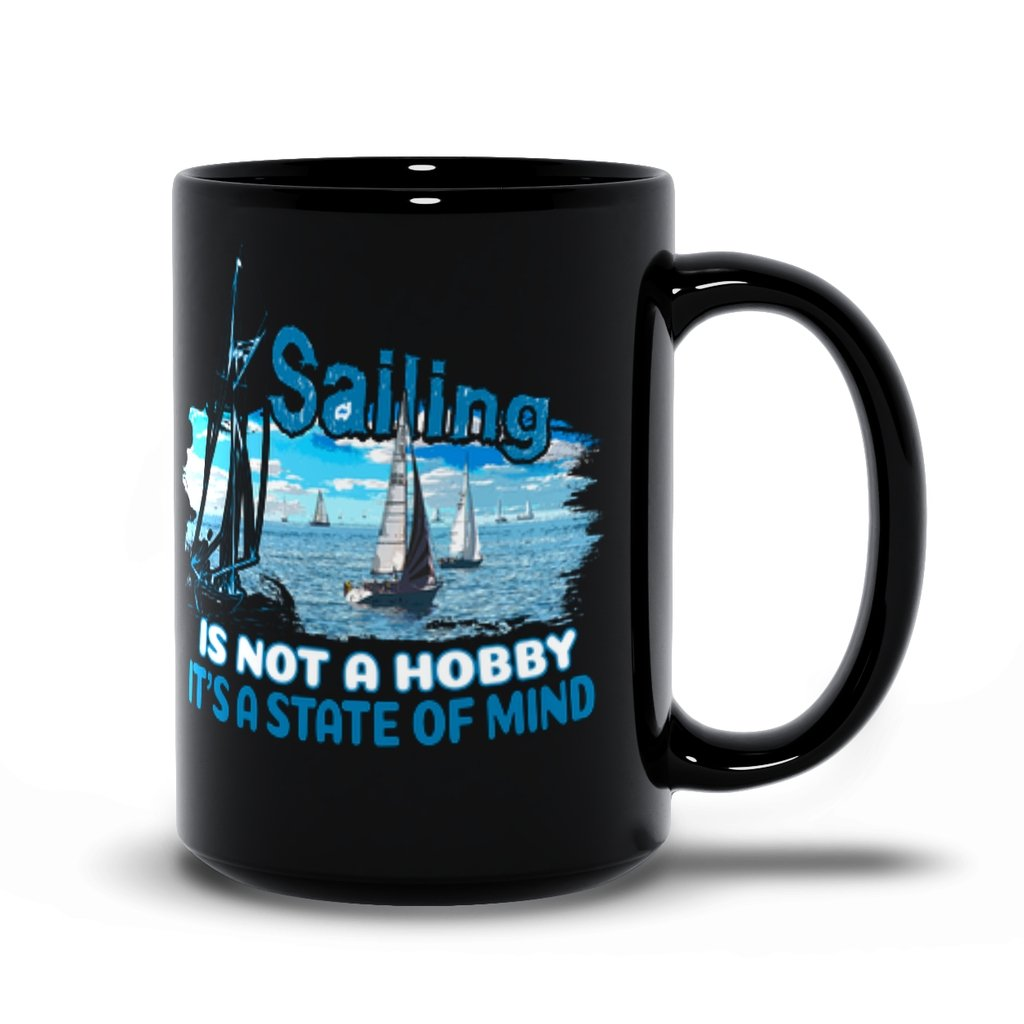 Black Mug - Sailing is not a hobby Collection - SVlovers