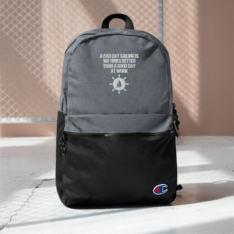 Embroidered Champion Backpack - A good day sailing Collection - SVlovers