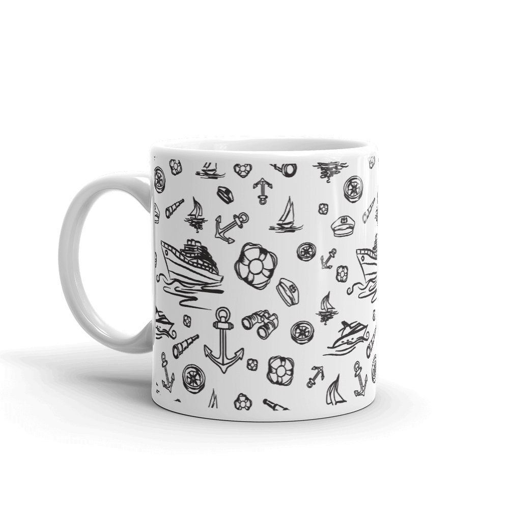 Glossy Mug - White Sailing World Collection - SVlovers