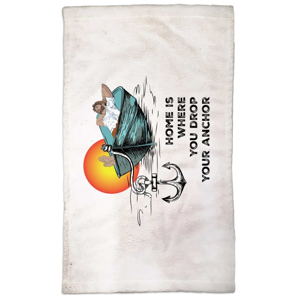 Hand Towel - Home is where you drop your anchor Collection