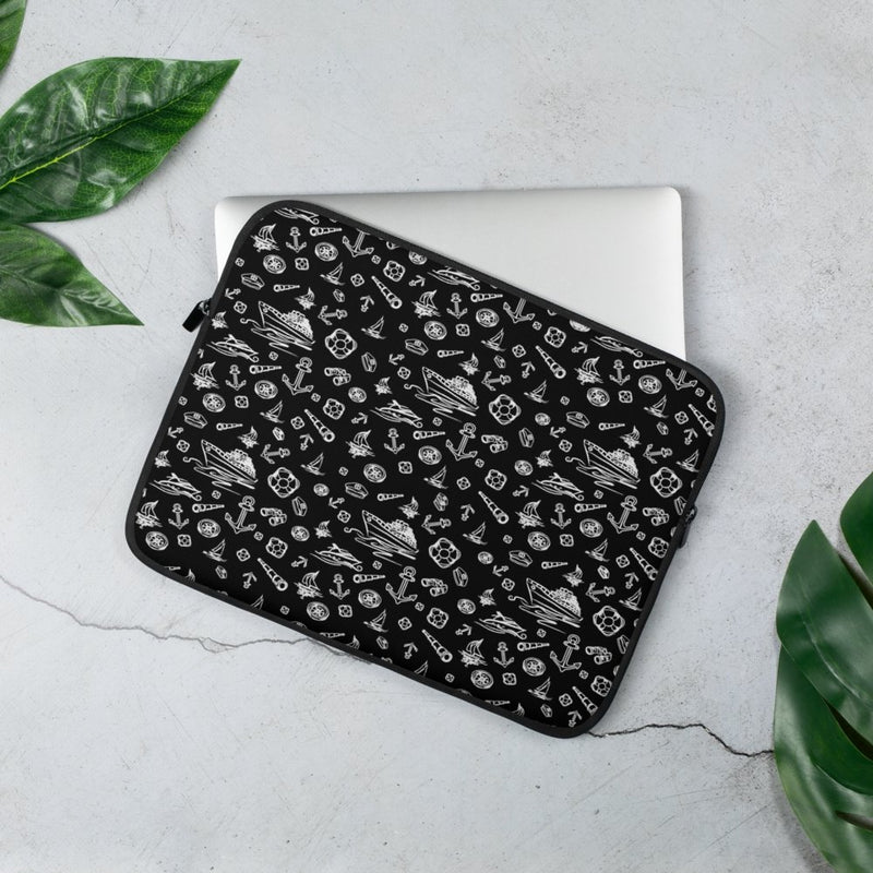 Laptop Sleeve - Black Sailing World Collection - SVlovers