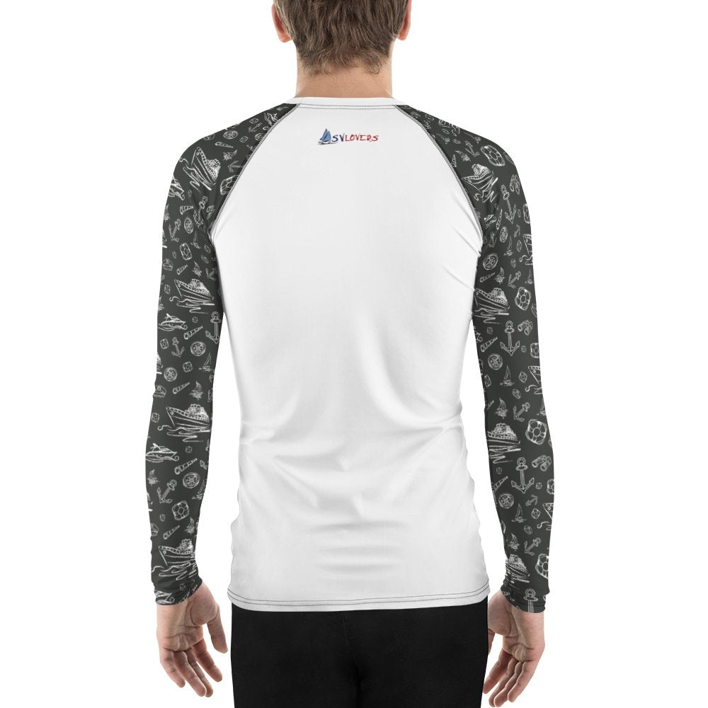Men's Rash Guard - Black Sailing World Collection - SVlovers
