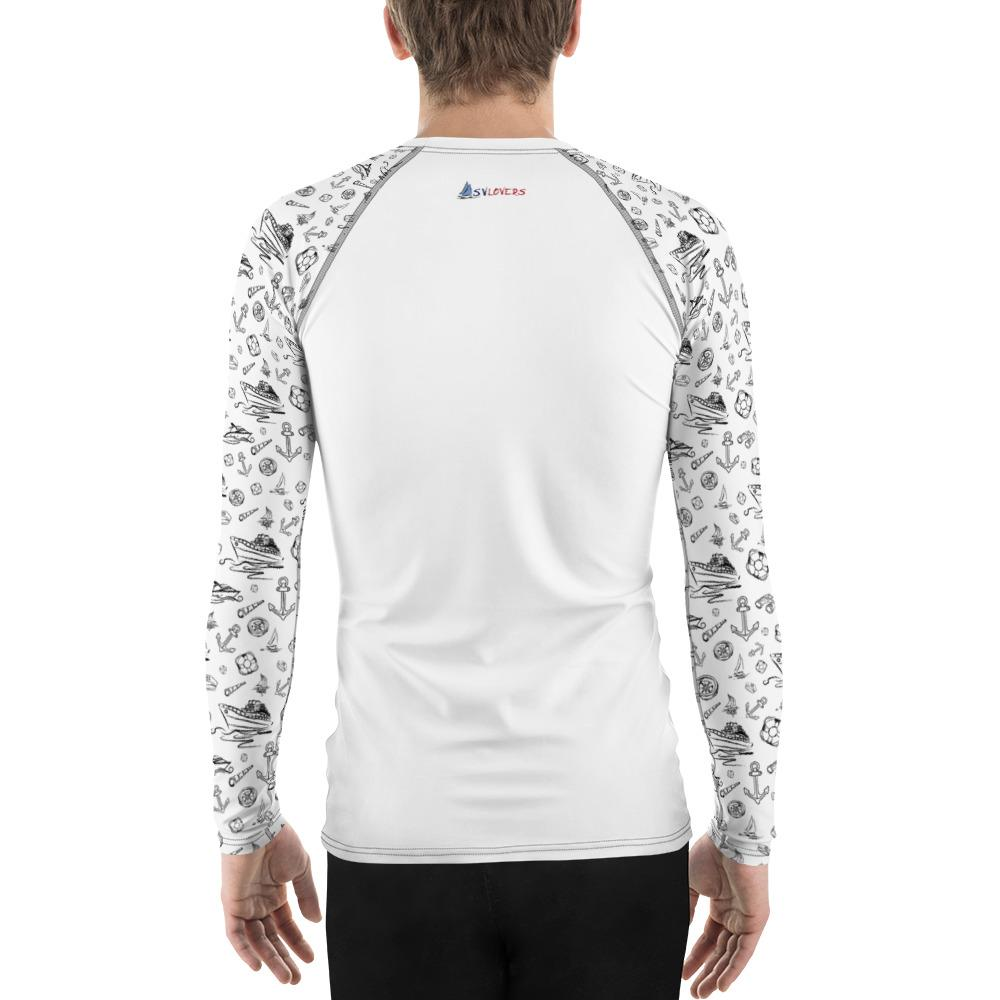 Men's Rash Guard - White Sailing World Collection - SVlovers