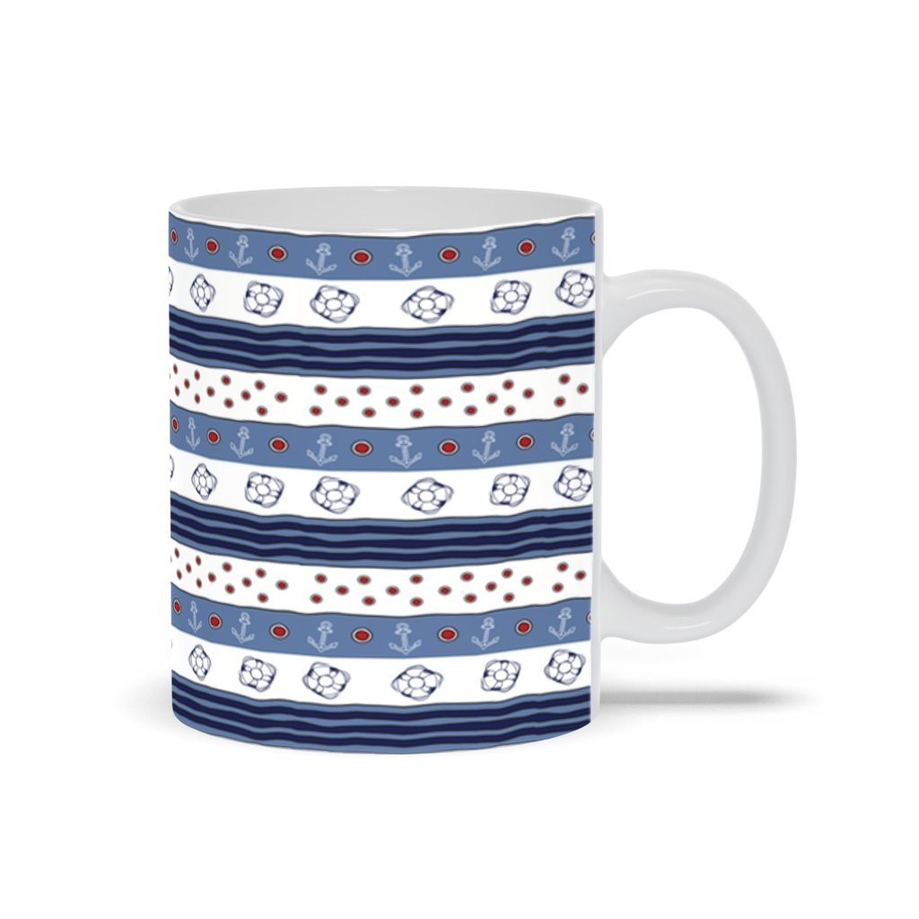Mug - Blue-White Flag Collection - 11oz - SVlovers