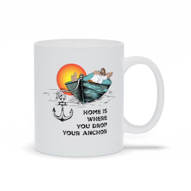 Mug - Home is where you drop your anchor Collection - SVlovers