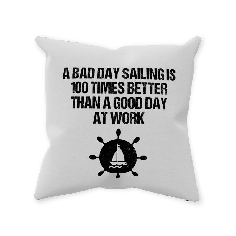 Pillow - A good day sailing & White Sailing World Collections - SVlovers