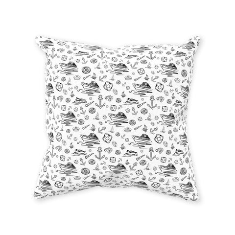 Pillow - White Sailing World Collection - SVlovers