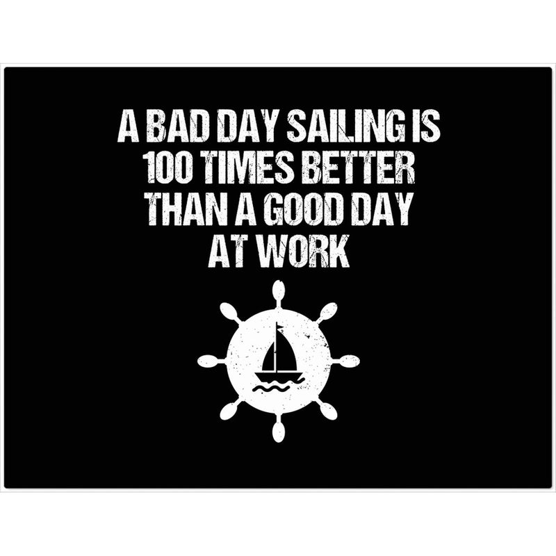 Placemat - A good day sailing Collection (Black) - SVlovers