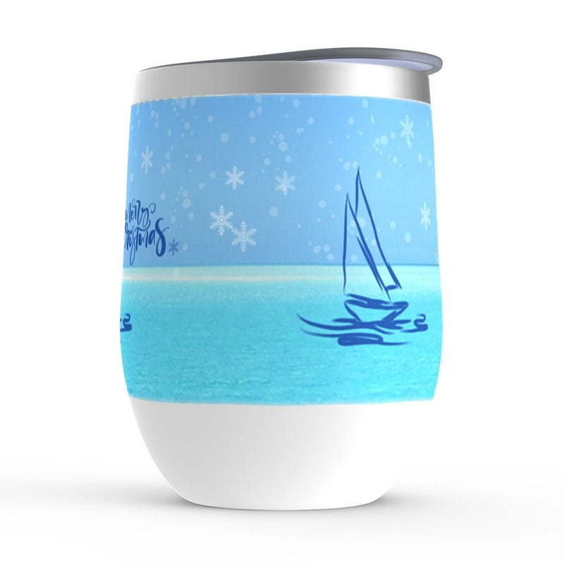 Stemless Wine Tumblers - Merry Christmas - Christmas Collection - SVlovers