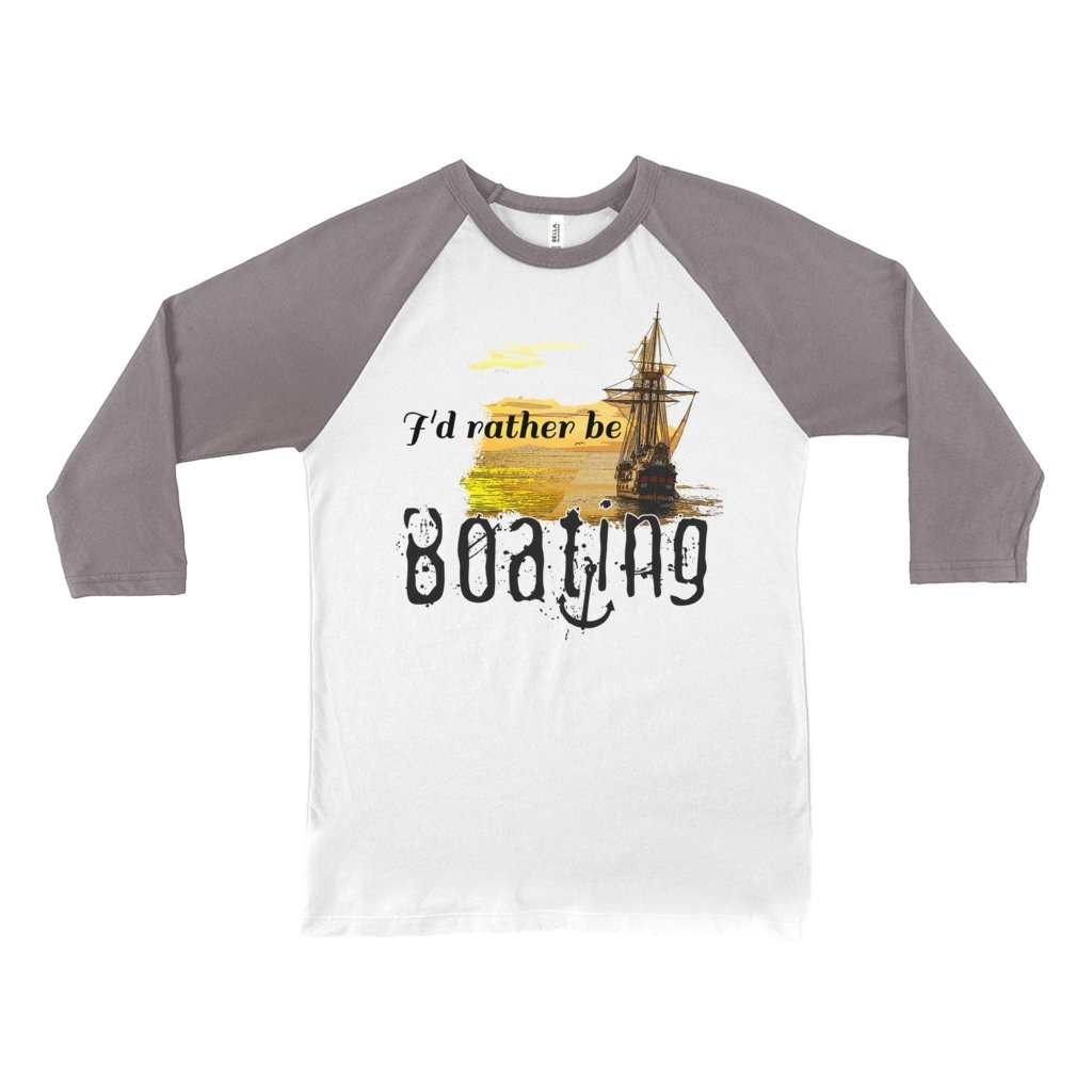 Unisex 3/4 Sleeve Baseball Tee - I'd rather be boating Collection - SVlovers